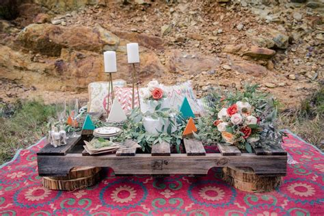 edgy modern bohemian american themed wedding ideas in the mountains 12 bespoke