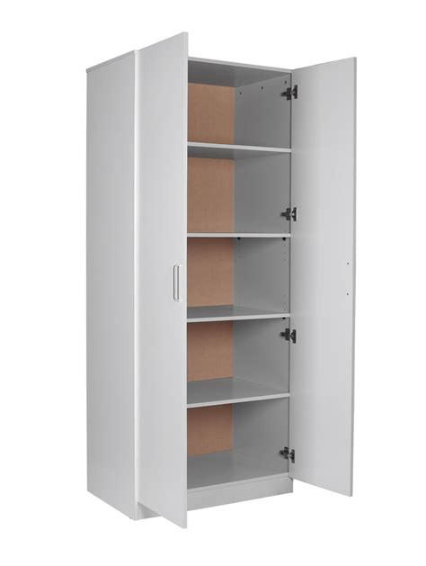 pantry storage cabinets in white all home design ideas redfern bigsize pantry wardrobe storage cabinet 5 shelves