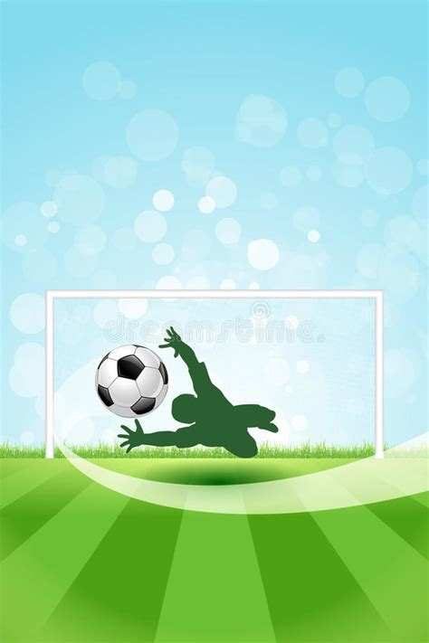 soccer background  goalkeeper  ball stock vector