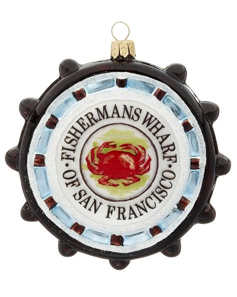 san francisco fisherman s wharf personalized ornament