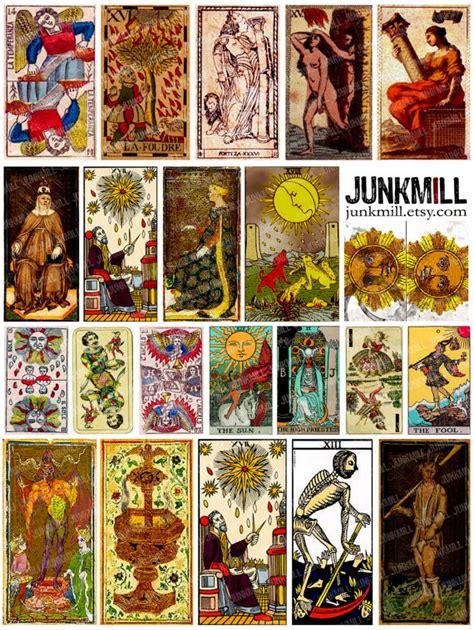 printable tarot cards download medieval tarot digital printable collage sheet vintage