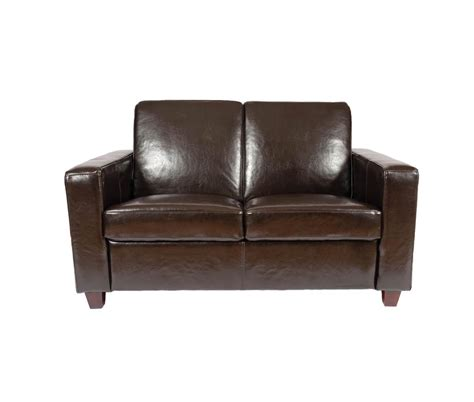 Classic 2 Seater Leather Sofa Available In Red Black 2 Seater Leather Sofa