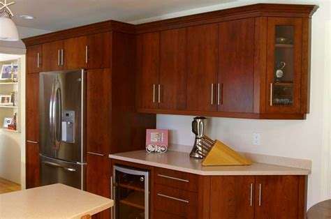 Cherry Wood Cabinets With Black Granite Kitchen Walnut Modern Cherry Kitchen Cabinets