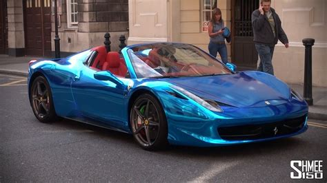 Blue 458 Spider Chrome Blue 458 Spider Supercar From Saudi