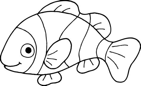 coloring page of a clown fish clownfish clipart black and white pencil and in color