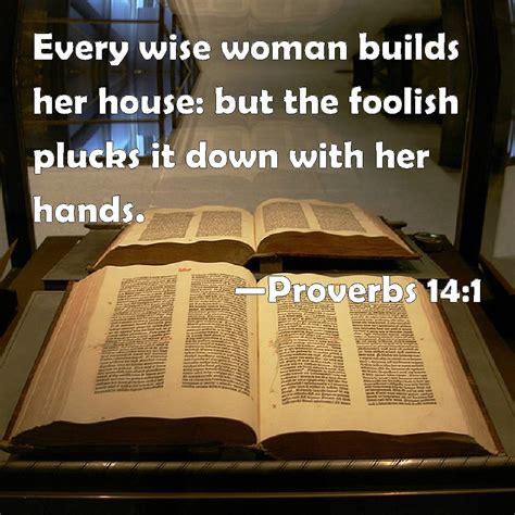 a wise woman builds her house proverbs 14 1 every wise woman builds her house but the foolish plucks it down with