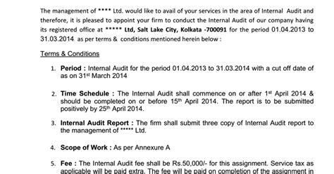 appointment letter rto auditor letter sle docoments ojazlink