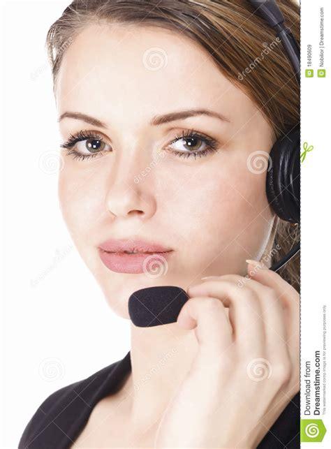 beautiful customer service operator stock image image 18490609