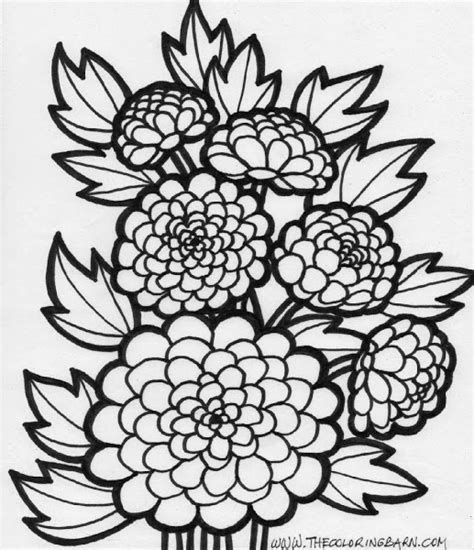 coloring pages of fall flowers fall coloring pages printable colorings net