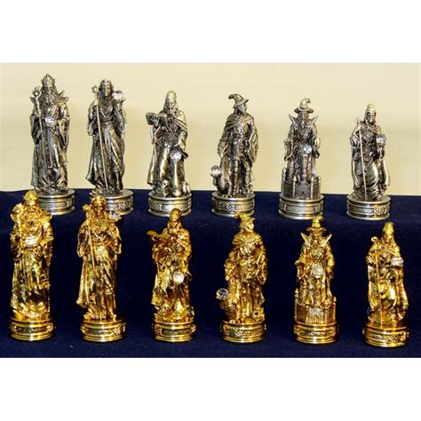 fantasy chess set royal chess fantasy pewter chess pieces chess pieces at
