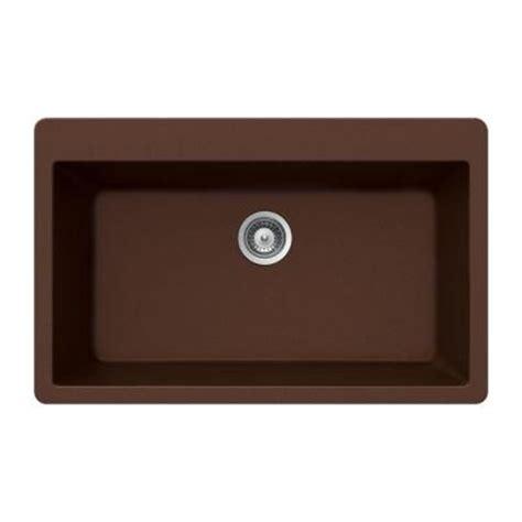 top mount single bowl kitchen sink houzer quartztone top mount composite granite 33 in
