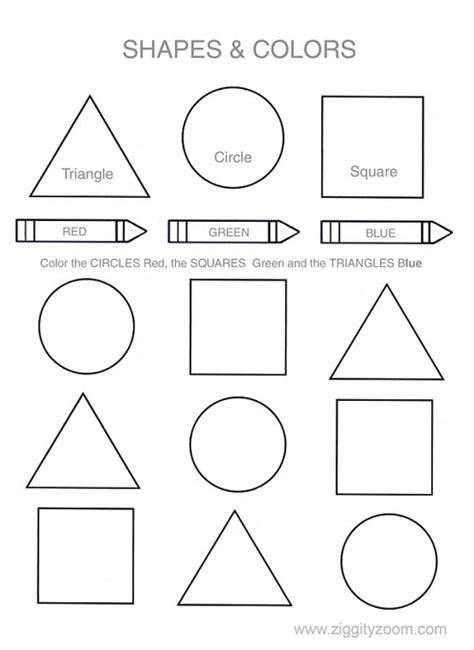 printable shapes in color shapes colors printable worksheet worksheets shapes