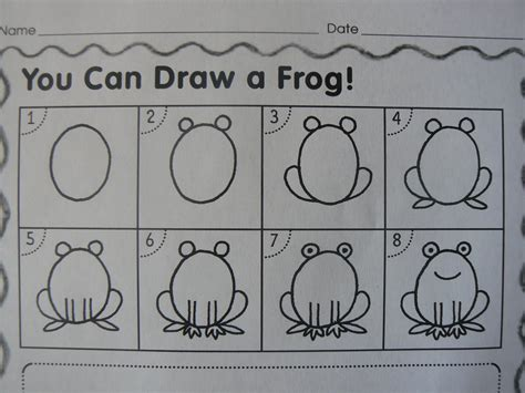 Frog Directed Drawing