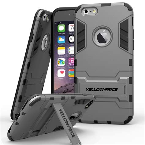 Iphone 6 Plus Armor Defender With Standing Wings Back Cover iphone 6s plus 6 plus yellow price armor cover slim stand tough ebay