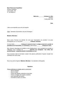 Modèle De Lettre De Demande D Autorisation D Absence sle cover letter modele de lettre d autorisation