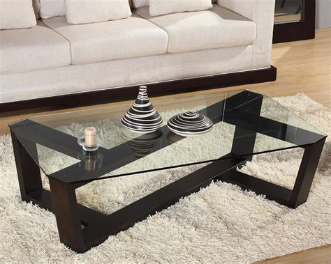 Contemporary glass topped coffee table chicago