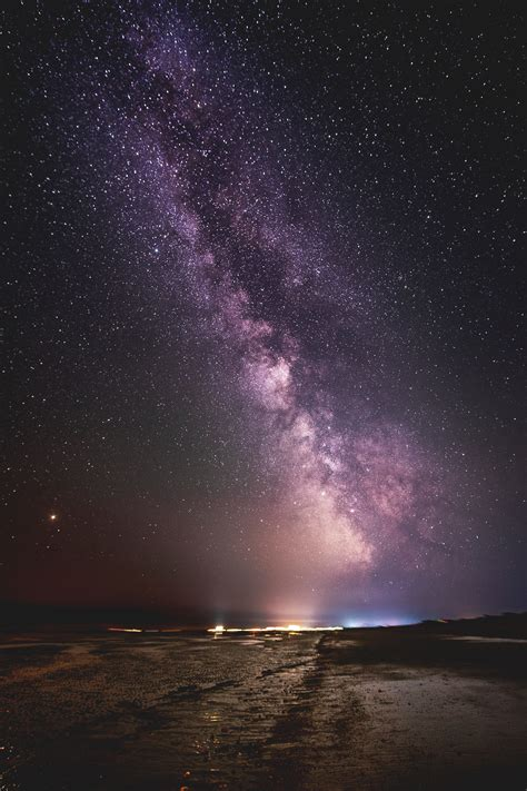 wallpaper starry sky night sky beach milky  nature
