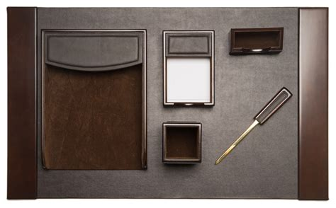 desk sets accessories 6 black leather desk set traditional desk