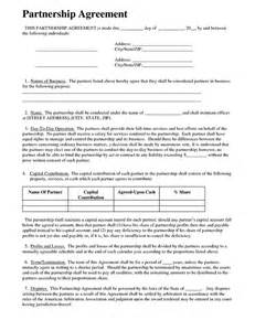 Corporate Partnership Agreement Template by Sle Partnership Agreement Form On Behance