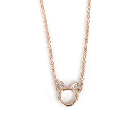 Choupette Necklace, Rose Gold   Jewelry   Catbird