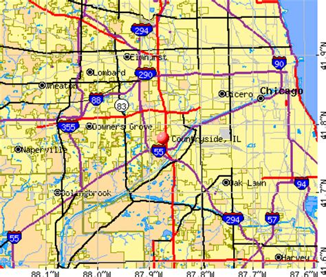 countryside illinois il 60525 profile population maps real estate averages homes