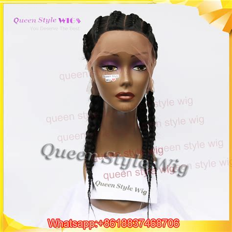 sheba braided full lace wig hot sale dutch braids full lace wig synthetic african