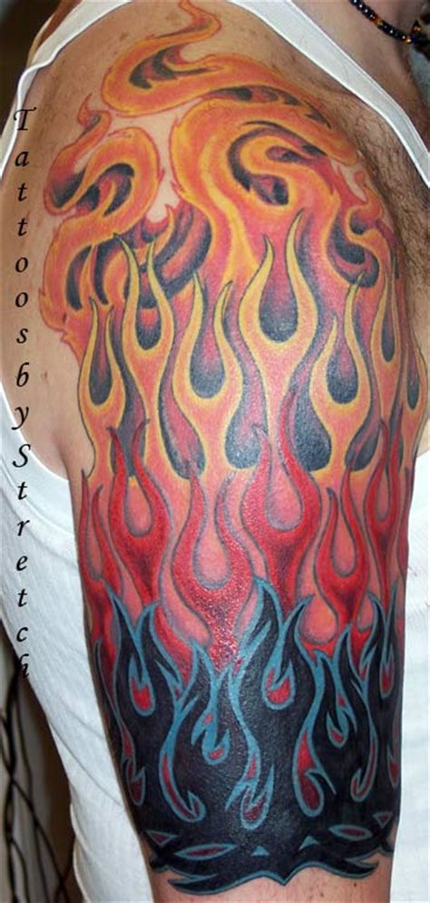 tribal flame tattoos on arm amazing designs japanese tattoos