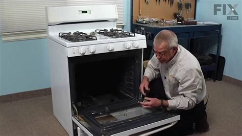 Oven Gas Qmax ge range repair how to replace the flat style oven