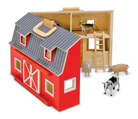 Scheune Playmobil by Doug Fold And Go Wooden Barn With 7