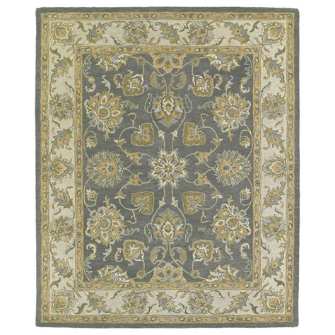 Throw Rugs Kaleen Solomon Ezekial Pewter 8 Ft X 10 Ft Area Rug 4056