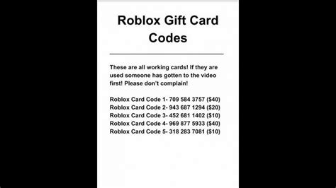 free unused roblox card codes roblox gift code generator no survey gift ftempo