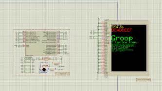 avr simulating tft lcd ili9341 with proteus v8 3