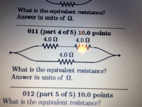 what is the point of a zero ohm resistor what is the equivalent resistance answer in units chegg