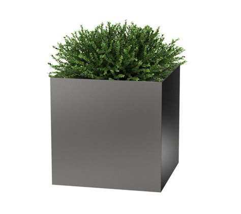 modern elite cube planter planters pewter and modern