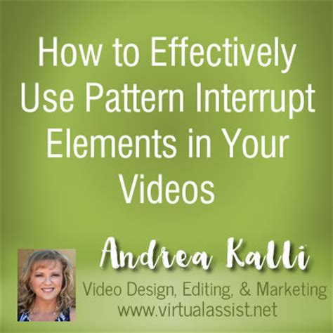 interrupt design pattern how to effectively use pattern interrupt elements in your