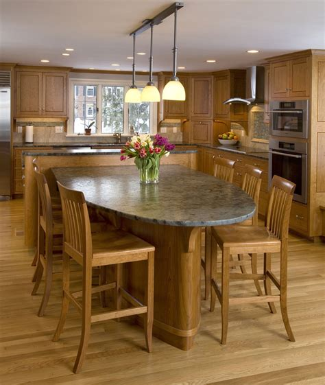 kitchen island eating area dining room fabulous all cherry wooden kitchen design
