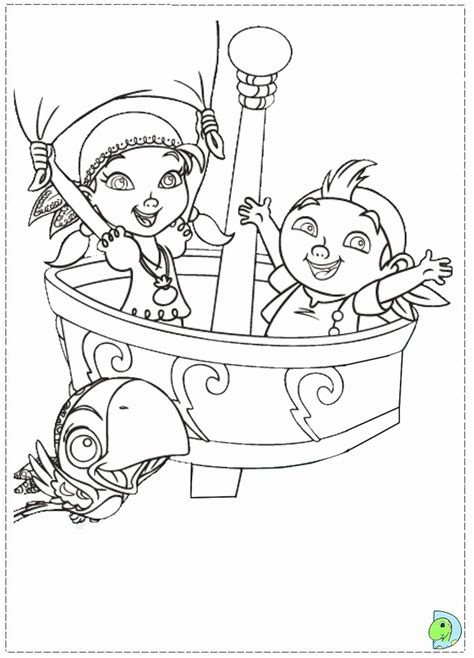 jake and the neverland pirates coloring page coloring home
