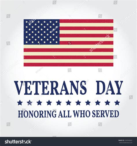 Happy Veterans Day Greeting Card Template by Happy Veterans Day Greeting Card Vector Stock Vector