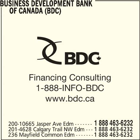 business development bank of canada bdc bdc business development bank of canada edmonton ab