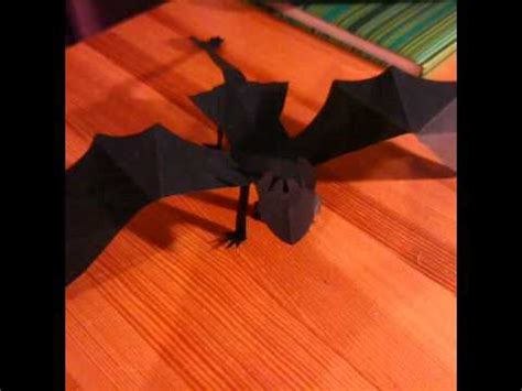 Toothless Origami - how to make a paper fury toothless