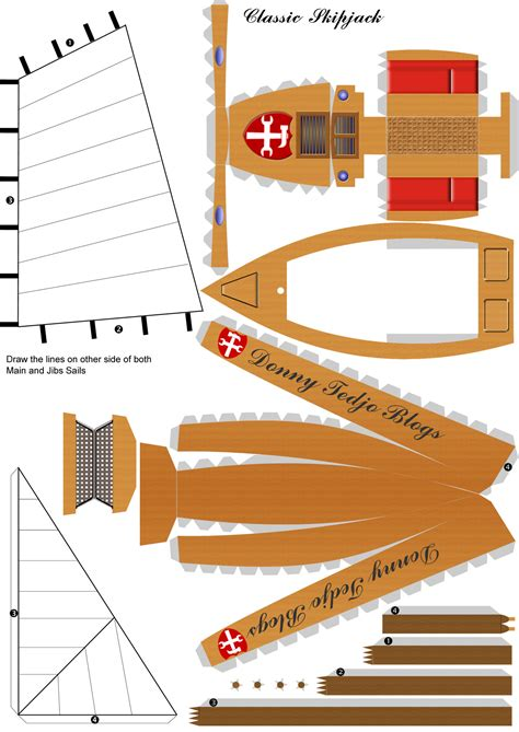 how to make a paper canal boat papercraft models boat design net