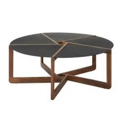 modern coffee tables round black table wooden legs