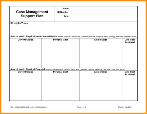 it support plan template technical support plan template
