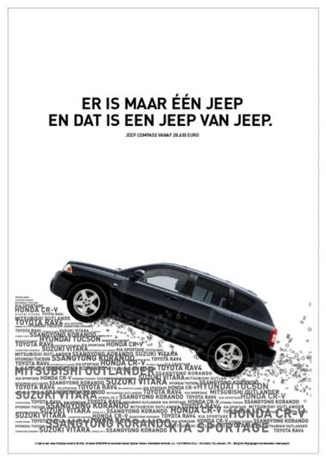 jeep print ads jeep quot one jeep quot print ad by fhv bbdo amsterdam