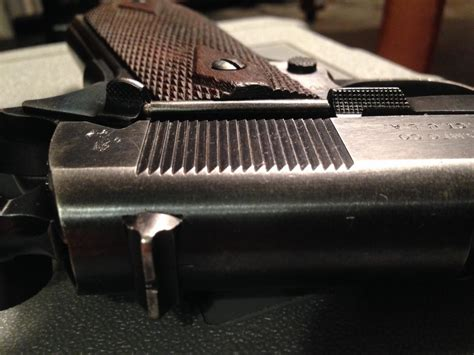 serration process original 1911 slide grip serrations