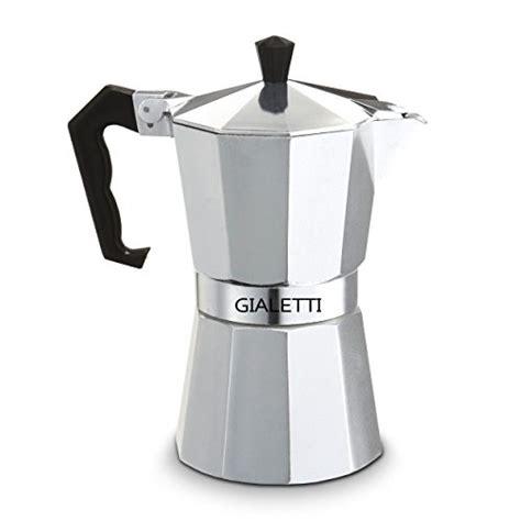 Teko Kopi Espresso Pot 6 Cup Gialetti Stovetop Espresso Pot 6 Espresso Cup Italian Coffee Maker Silver Color