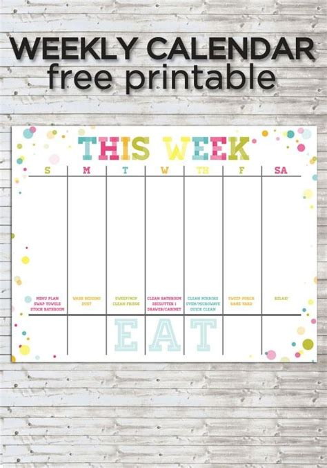best 25 weekly calendar template ideas on pinterest
