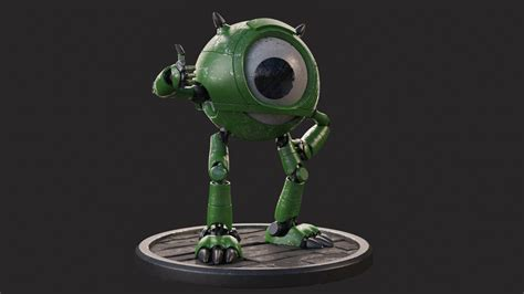 mike wazowski robot version  mondalvarsa character art  cgsociety