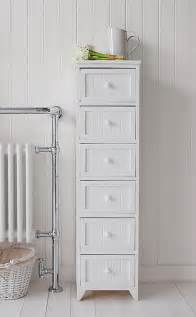 maine narrow freestanding bathroom cabinet with 6