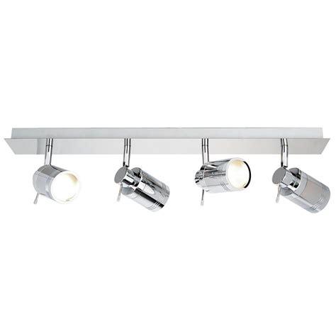 Ceiling Spotlight Bar by Hugo 4 Light Bathroom Ceiling Spotlight Bar Chrome From
